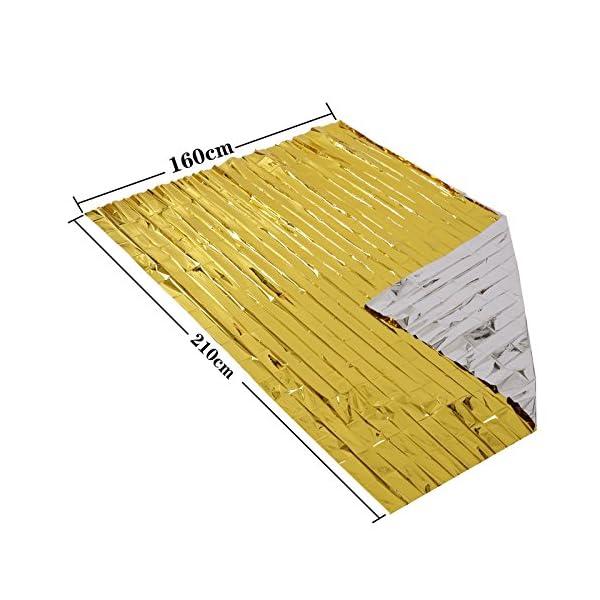 Somine Mantas de Emergencia(Paquete de 5) Tamaño Grande:210 X160cm, diseñado con hasta un 90% de retención de Calor 2