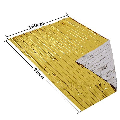 Somine Mantas de Emergencia(Paquete de 10) Tamaño Grande:210 X160cm, diseñado con hasta un 90% de retención de Calor 5