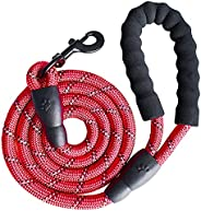 SK DEPOT 5ft Stronge Heavy Duty Dog Leash with Comfortable Padded Handle Reflective Rope Attaches to Pet Colla