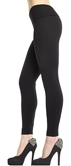 1631a64f4867d0 Angelina Seamless Fleece Tights Leggings One Size - 014 (Black) at ...
