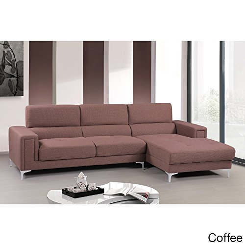 Us pride furniture audrey contemporary fabric right facing for Beige sectional with chaise