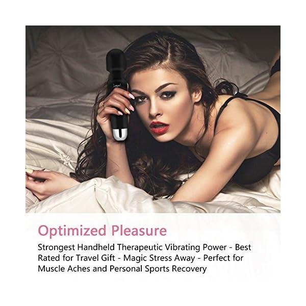 Wand Masseur Sans fil, Vibrant Massager avec 20 Mode de Vibrations Personnelle électriques étanche USB Rechargeable…