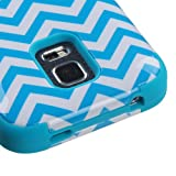 Samsung Galaxy S5 Mini G800 Case, Kaleidio [Mybat TUFF] Reinforced Shock Proof Hybrid Cover [Includes a Overbrawn Prying Tool & Stylux Stylus] [Blue Waves Pattern]