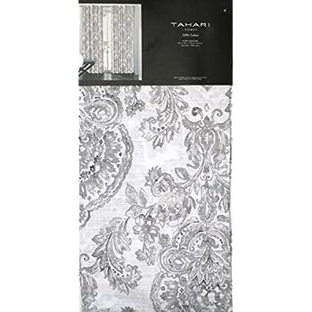 Amazon Com Tahari Home Sienna Paisley Window Panels 52 By