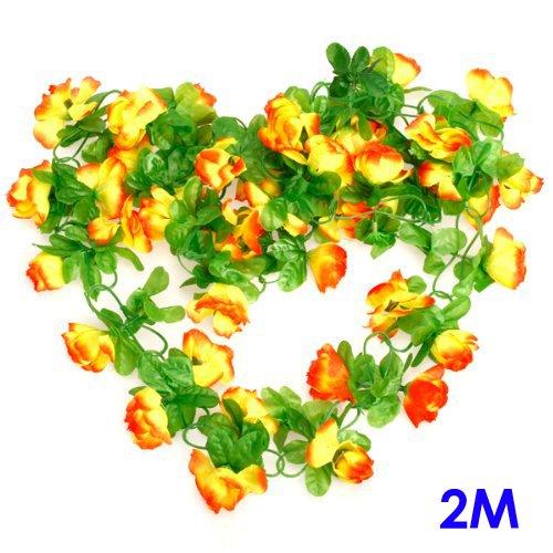Artificial Rose Bud Garland Flower Vine for Home Wedding Garden Decoration