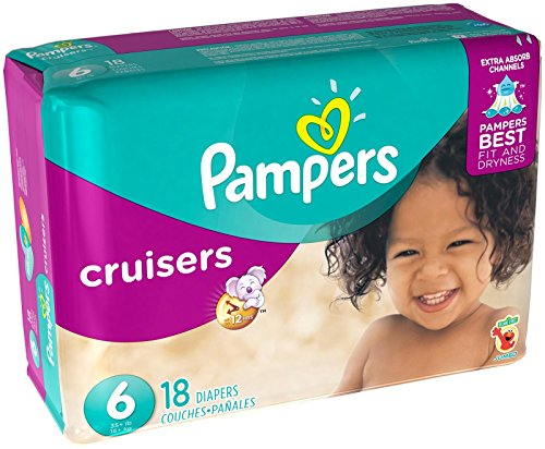 Pampers Cruisers Diapers - Size 6 - 18 ct