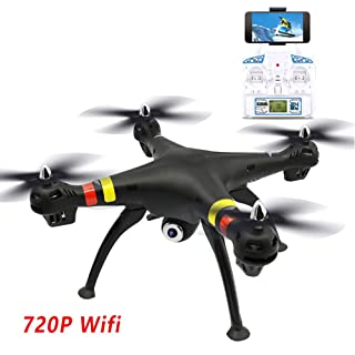 Drones with Camera, for Adults or Kids WiFi FPV RC Drone for Beginners, 720P HD VR Quadcopter Toy Electronics Gifts, Anti-Fall TIAOTIAO