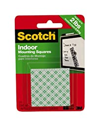 3M Scotch Indoor Mounting Squares, 1-Inch, 48-Square, 2-PACK