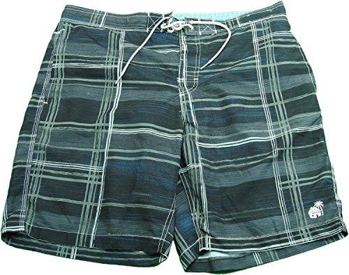 Caribbean Joe Men's Size X-Large Swimming Trunks, Black