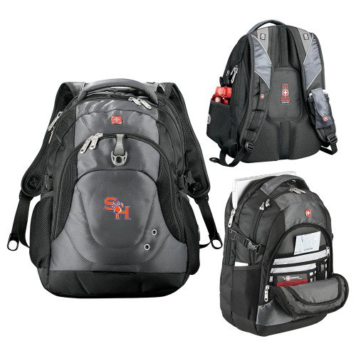 SHSU Wenger Swiss Army Tech Charcoal Compu Backpack 'SH Paw Official Logo' by CollegeFanGear