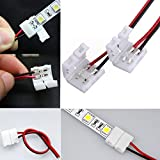 Lights & Lighting - 2-Pins Power Connector Adaptor For 3528/5050 Led Strip Wire Pcb - Solderless Strip Connector Light Flex Tape 3528 Lighting Ever 5000028 B019q3u72m Tail 2-Pins