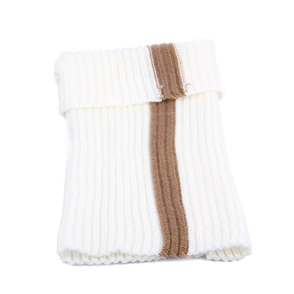 Kids Wrap Scarf White Autumn Winter Warm Knitted Children Circle Scarf Fashion Splice Thick Snood Scarf Gifts for Girls Boys