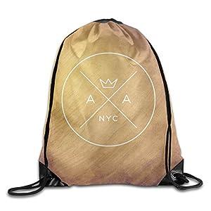 BYDHX American Authors Band Logo Drawstring Backpack Bag White