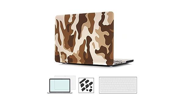 A1370 y A1465 4 en 1 Acabado Mate de Goma Mate Funda de pl/¨/¢Stico con Cubierta de Teclado Screen-Guard y Anti-Polvo Plug para Macbook Air 11,6 Pulgadas RYGOU 11 MacBook Air Hard Case