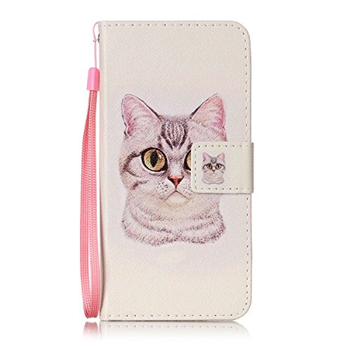 [Galaxy S8 - Case, For [S8] , MerKuyom [Wrist Strap] [Kickstand] Premium PU Leather Wallet Pouch [Card Holder] Protective Flip Cover Case For Samsung Galaxy S8, W/ Stylus (Lovely Cat Pattern)] (Raindrop Pattern Protective Case)