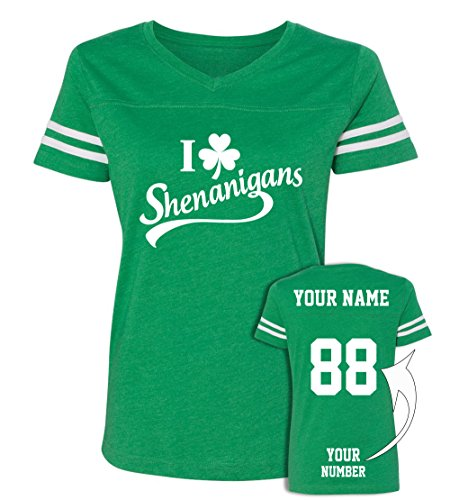 Custom Jerseys St Patrick's Day T Shirts - Saint Pattys Jersey Tee & Irish Outfits