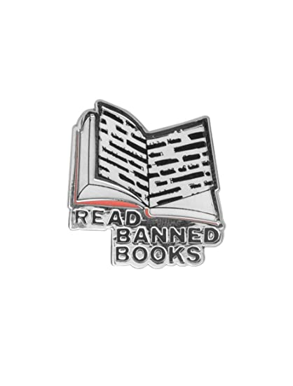 4bad4ab96825 Amazon.com: Out of Print Read Banned Books Enamel Pin: Clothing