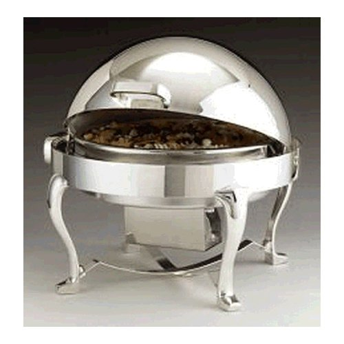 Chrome Round Chafer - Chrome and Silver Plated Round Chicago Millenium Rolltop Chafer, 2 gal