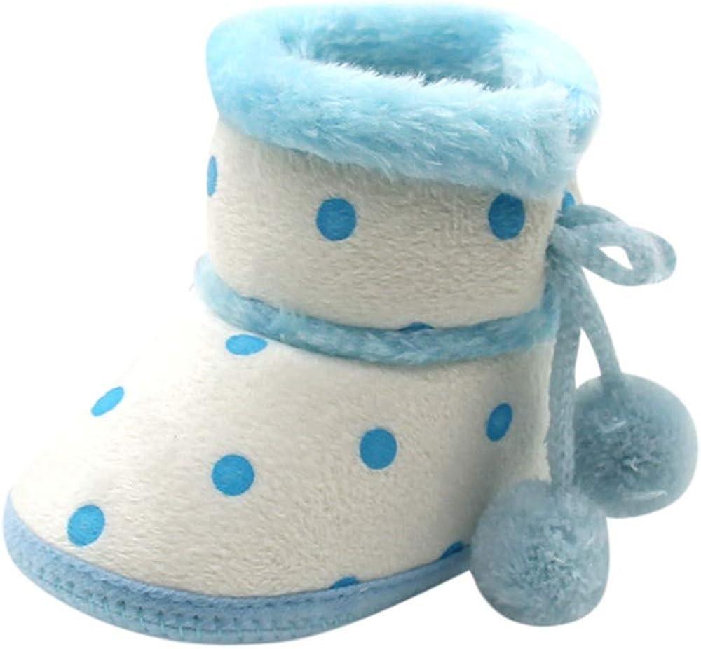 LABIUO Bottes Bébé Filles Garçon, Bébé Bottes de Neige Souple Antidérapant Chaussures Premiers Pas Chaud Hiver Chaussons pour Nouveau né 0 12 Mois
