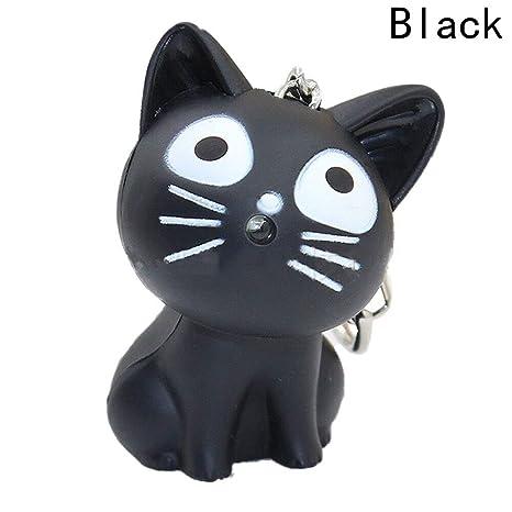 Amazon.com: PPL88-1 llavero con diseño de gato de queso y ...