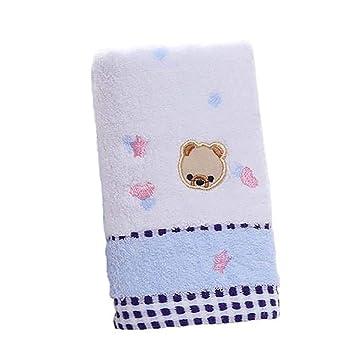 BESTEU Pequeños Dibujos Animados Oso Toallas algodón jackard Toalla Extra Absorbente recién Nacido Premium Toalla 25 * 50 cm: Amazon.es: Hogar