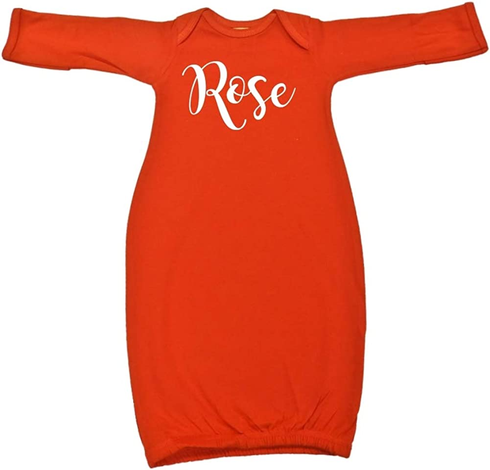 Mashed Clothing Rose Personalized Name Baby Cotton Sleeper Gown