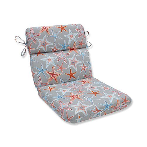 Pillow Perfect Stars Collide Pewter Rounded Corners Chair Cu