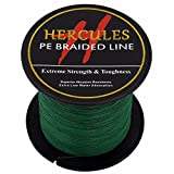 HERCULES 100m 109yds Green 6lbs-100lbs Pe Braided Fishing Line 4 Strands (6lb/2.7kg 0.08mm)