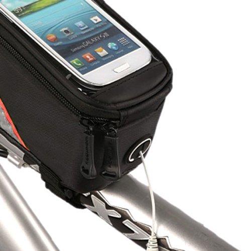 Roswheel Fahrrad Steuerrohr Taschen 4.8 zoll(rot und schwarz)