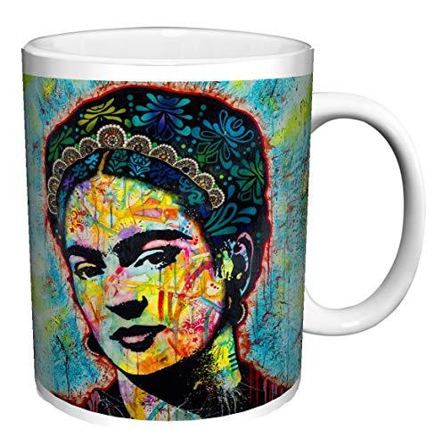 FRIDA KAHLO BY Dean Russo Modern Ceramic Gift Coffee Tea Cocoa (11 OZ C HANDLE CERAMIC MUG) (11 OZ C-HANDLE MUG)