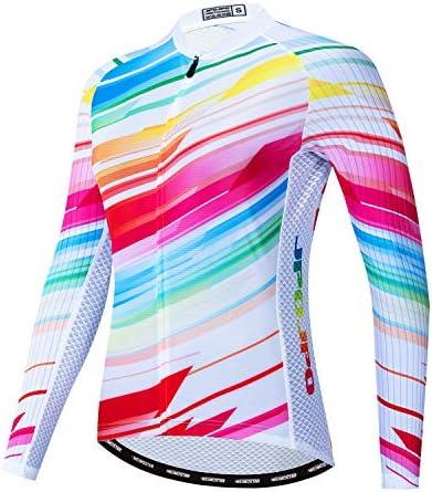 JPOJPO Dames fietsshirt met lange mouwen fietsshirt met 4zakken reflecterende S3XL