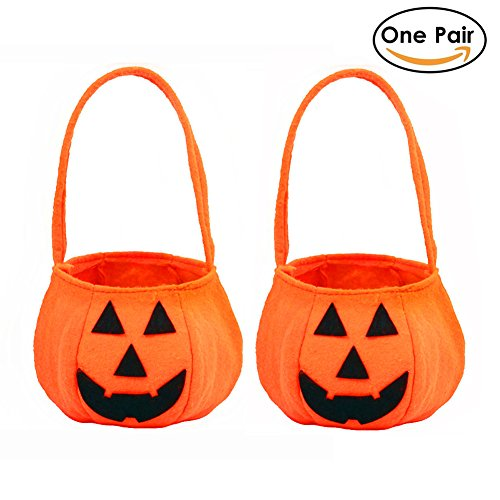 M Y Fly Young Halloween Pumpkin Bag Trick or Treat Candy Tote Hand Bags for Kids Halloween Party Costume Party Pack of a (Diy Pair Costumes)