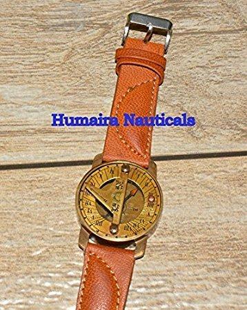 Humaira Natical Wirst Watch Sundial Compass Nice Gift Item