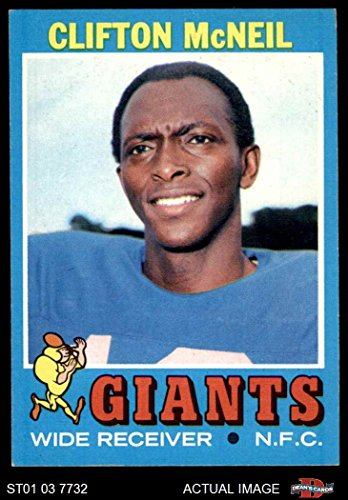 1971 Topps # 15 Clifton McNeil New York Giants-FB (Football Card) Dean's Cards 7 - NM (1971 Topps Football Card)