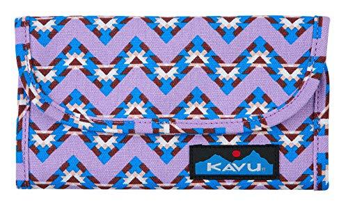 KAVU Big Spender Tri-fold Wallet Womens Cotton Clutch Travel Organizer - Jewel Chevron