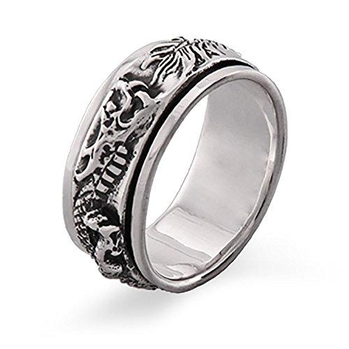 (Sterling Silver Dragon Spinner Ring)