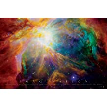 Imagination-Nebula-Motivational, Photography Poster Print, 24 by 36-Inch