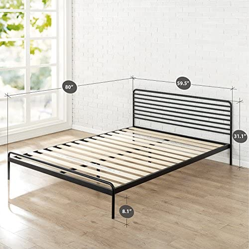 Zinus Tom Metal Platform Bed Frame / Mattress Foundation / No Box Spring Needed / Wood Slat Support / Design Award Winner, Queen 51FFMc2gWqL