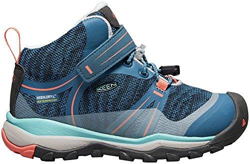 Pictures of KEEN Unisex Terradora MID WP Hiking Shoe 1018385 Aqua Sea/Coral 1