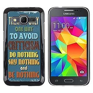 Dragon Case - FOR Samsung Galaxy Core Prime - it is nothing - Caja protectora de pl??stico duro de la cubierta Dise?¡Ào Slim Fit