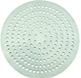 Winco APZP-11SP, 11-Inch Super-Perforated Aluminum Pizza Disk with 226 Holes, Pizza Screen Crisper