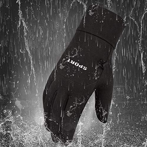 ウィンターライディングウォータープルーフグローブ、保温性のあるベルベット、防雨タッチスクリーン、パームスリップ、アウトドアスポーツ用防風登山ウィンターサイクリング(シックニングベルベット)