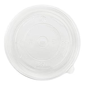 Karat C-KDL142-PP Karat 24-32 oz PP Food Container Flat Lids (Case of 600)