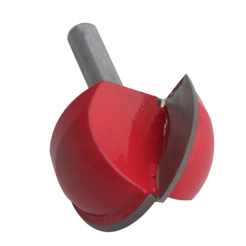per il taglio industriale del legno Cnbtr colore argento rosso 4/frese a fondo rotondo diametro del codolo di 6/mm in lega di carbonio