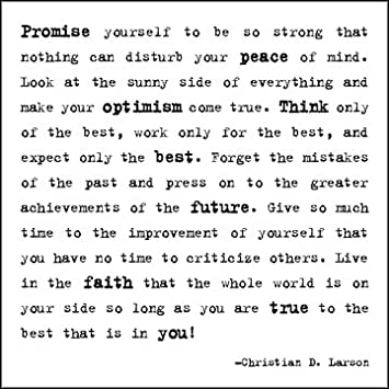 Quotable Larson: U201cPromise Yourselfu2026u201d   Cards Quotes Greetings Occasions CARD  167