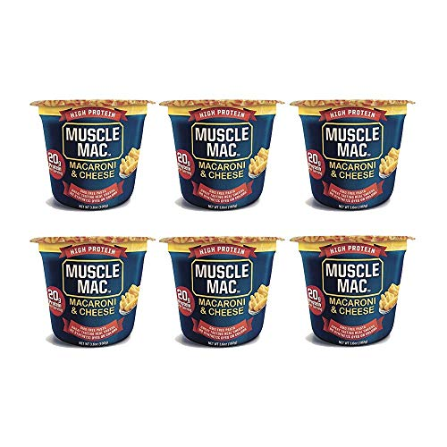 Muscle Mac High Protein Macaroni & Cheese Microwave Cup, 6 cups