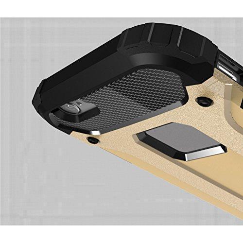 UKCOCO Heavy Duty Slim Shell duro de protección contra impactos parachoques rugoso híbrido de doble capa de armadura de protección contra la parte posterior de la caja a prueba de golpes para el iPhon Azul marino