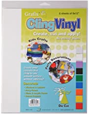 "Grafix Clear, 9 x 12"" Sheets, Pack of 6, Static Film, Create Your Own Window Clings and Temporary Decorations, Just Stick to Any Glass, Acrylic, or Glossy Surface, 6 Count"