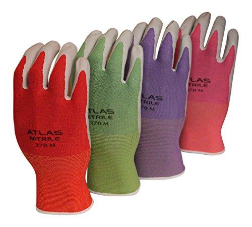 Atlas Showa Best 370 Garden 4 Color Pack of Garden Gloves (4 pairs of gloves) (Small) (Gloves Gardening Showa)