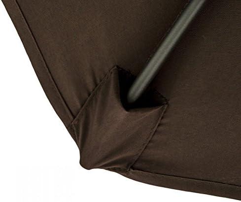 Snail Caracol 10 Offset de Aluminio Patio Paraguas, protección UV, Resistente al Agua para Colgar Paraguas en voladizo de jardín con Cruz Base, Chocolate: Amazon.es: Jardín